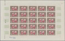Algerien: 1950/1953, IMPERFORATE COLOUR PROOFS, MNH Assortment Of Five Complete Sheets (=123 Proofs) - Algerien (1924-1962)