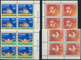 Canada: 1976/1988, Olympic Games, Mint Never Hinged Lot With About 24,000 Stamps In Full Sheets, She - Kanada