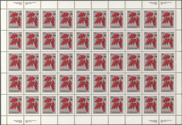 Canada: 1977/1988 (ca.), Stock Of Definitves Queen Elisabeth, Flowers And Parliament Mostly In Sheet - Kanada