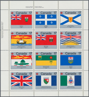 Canada: 1979, Flags, Michel No. 731/742 Mint Never Hinged, 3692 Sets In Se-tenant Sheets. Face Value - Kanada