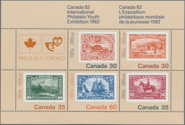 Canada: 1982, International Philatelic Youth Exhibition, Michel No. 822 (150), 823 (175), 824 (225), - Kanada