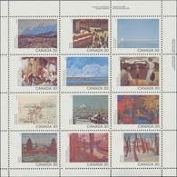 Canada: 1982, Paintings / Canada Day, Michel No. 835/846, 894 Sets In Se-tenant Sheets Mint Never Hi - Kanada