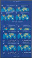 Canada: 1983, Commonwealth Day, Michel No.867 In Full Sheets, Singles, Inscription Corner Blocks. In - Kanada