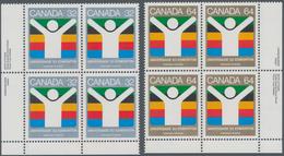 Canada: 1983, Universade, Michel No. 875-876, 1650 Sets Mint Never Hinged. Face Value $1584,- CAD. C - Kanada