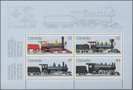 Canada: 1984, Trains, Michel No. 935/938, Bl.3, 3246 Copies Of This Souvenir Sheet Mint Never Hinged - Kanada
