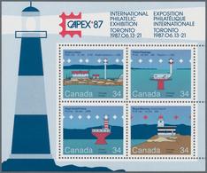Canada: 1985, Lighthouses / CAPEX 87, Michel No. 972/975, Bl.4, 400 Copies Of This Souvenir Sheet Mi - Kanada