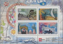 Canada: 1986, Discoverers, Michel No. 1004/1007, Bl.5, 1040 Copies Of This Souvenir Sheet Mint Never - Kanada
