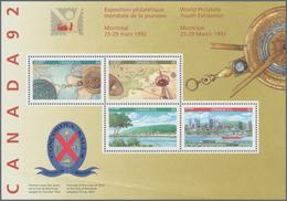 Canada: 1992, Worls Philatelic Youth Exhibition, Michel No. 1679/1289, Bl. 8, 300 Copies Mint Never - Kanada