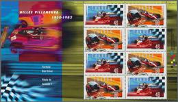Canada: 1997, Gilles Villeneuve Formula 1, 52 Folders With Michel No. Block 22 Mint Never Hinged. Fa - Kanada