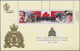 Canada: 1998, Royal Canadian Mounted Police, 2100 Copies Of This Souvenir Sheet MNH. Michel No. 1690 - Kanada