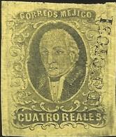 J) 1861 MEXICO, HIDALGO, 4 REALES, DISTRICT SAN LUIS POTOSI, MN - Mexico