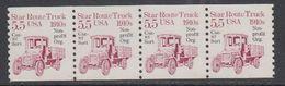 USA 1985 Star Route Truck 1910s 1v  Non Profit Strip Of 4 ** Mnh (43129D) - Verenigde Staten