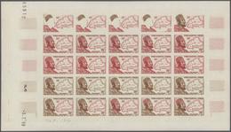 Französisch-Westafrika: 1954/1958, IMPERFORATE COLOUR PROOFS, MNH Assortment Of Twelve Complete Shee - A.O.F. (1934-1959)