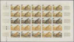 Französische Somaliküste: 1956/1958, IMPERFORATE COLOUR PROOFS, MNH Assortment Of Twelve Complete Sh - Französich-Somaliküste (1894-1967)