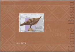 Guinea-Bissau: 2001, Guinea-Bissau: ARTS AND CRAFTS, Souvenir Sheet, Investment Lot Of 2000 Copies M - Guinea-Bissau