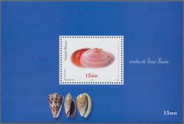 Guinea-Bissau: 2002, GUINEA-BISSAU: SHELLS, Souvenir Sheet, Investment Lot Of 1000 Copies Mint Never - Guinea-Bissau