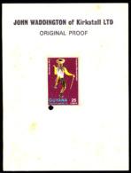 GUYANA (1971) Masquerade Dancer. Imperforate Proof Mounted On John Waddington Proof Card. Scott No 150 - Guyane (1966-...)