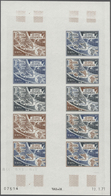 Komoren: 1970/1975, IMPERFORATE COLOUR PROOFS, MNH Collection Of 31 Complete Sheets (=690 Proofs), O - Komoren (1975-...)