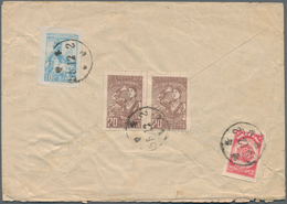 Korea: 1957/90 (ca.), Mostly North Korea DPRK In Two Stockbooks, Inc. 1955 Air Mail Cover To East Ge - Korea (...-1945)