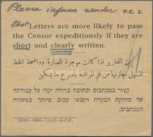 Palästina: 1918/1945, Interesting Collection With More Than 30 Censor Covers From WW II Era, Compris - Palästina