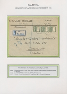 Palästina: 1919/1947, POSTAL RATES, Specialized Collection With Ca.80 Covers, Cards And Stationeries - Palästina