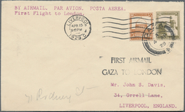 Palästina - Stempel: 1905 From, GAZA And SINAI, Postmark Collection With Ca.30 Covers/cards Together - Palästina