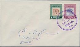Palästina - Stempel: 1950/1967 Ca., WEST BANK Postmarks Collection With 38 Covers From Jordan, Compr - Palästina