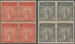 Australien: 1940 - 1980 (ca.), Box Containing Stamps (including Those Showing Varieties), Miniature - Australië