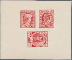 "Alle Welt: 1930 (appr.), So Called ""Eckerliin Essays"" For Stamps Of Great Briatin, USA And Russia, D - Sammlungen (ohne Album)"