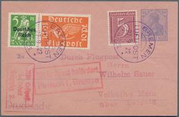 Flugpost Deutschland: 1909/1960 Ca., Sehr Reichhaltige Sammlung Der Deutschen Luftpost Mit über 300 - Luftpost