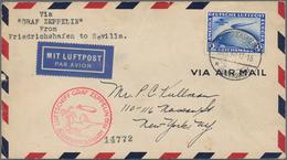 Zeppelinpost Deutschland: 1924/1936, Collection Of 83 Zeppelin Covers/cards Incl. Better Pieces. Det - Luftpost