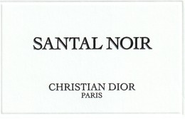 Santal Noir - Cartes Parfumées