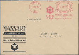 Thematik: Tabak / Tobacco: 1900/2000 (ca.), Assortment Of Apprx. 220 Thematic Covers/cards (plus Sev - Tabak