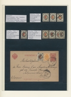 Lettland: 1862/1919, Collection Of Related Areas In A Binder, Comprising A Nice Section Wenden Local - Lettland