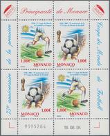 Monaco: 2004, 2 X 1.00 € World Soccer Cup 1930, 1950 Copies Of This Souvenir Sheet Mint Never Hinged - Monaco