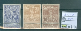 71-73 Côte 25.00€ - 1894-1896 Ausstellungen