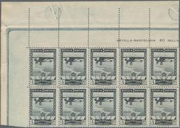 Spanien: 1929, Airmail Issue 4pta. Grey Black Showing Airplane 'Spirit Of St. Louis' In An Investmen - 1850-68 Königreich: Isabella II.