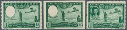 Spanien: 1930, Ibero-American Exhibition In Sevilla Airmail Stamp 1pta. Green With MISSING PORTRAIT - 1850-68 Königreich: Isabella II.