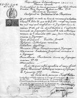 Rare Certificat De Naissance Et De Baptême Délivré Parla Republique Tchécoslovaque, Province De Moravie, Diocése De Brno - Documents Historiques