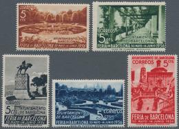 Spanien - Zwangszuschlagsmarken Für Barcelona: 1936, Barcelona Fair Complete Set Of Five Showing Dif - Kriegssteuermarken
