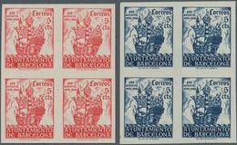 Spanien - Zwangszuschlagsmarken Für Barcelona: 1943, 450 Years Return Of Columbus To Barcelona Compl - Kriegssteuermarken