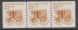 USA 1986 Bread Wagon 1880s 1v  Strip Of 3 ** Mnh (43129E) - Verenigde Staten