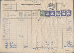 Bundesrepublik - Besonderheiten: 1962/1976, Konvolut Mit 18 Frankierten Überweisungslisten (Zustelli - [7] West-Duitsland
