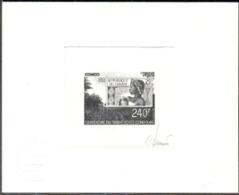 CONGO (1991) Femme. Soleil. Timbre Sur Timbre. Épreuve D'artiste En Noir Signée Par Le Graveur JUMELET. Yvert No 921, - Congo - Brazzaville