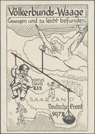 Ansichtskarten: Propaganda: 1933/1941, Vier Teils Bessere Propagandakarten U. A. Zur Saar-Rückgliede - Parteien & Wahlen