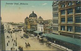 Ansichtskarten: Alle Welt: AUSTRALIEN, 1892/1926, Ungefähr 90 Ansichtskarten, Meist Postalisch Gebra - Zonder Classificatie