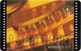Sweden - SF Bio - Rabattkort Brown/yellow Functional / Gift Magnetic Card, Used - Otras Colecciones
