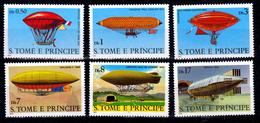 SAINT THOMAS  1979  AIRSHIPS  MNH  SET - Sao Tome Et Principe