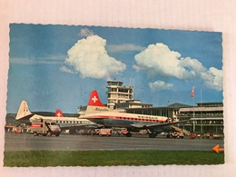 AÉROPORT De ZURICH Avions Swissair Et Alitalia En 1963 - 1946-....: Moderne