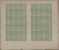 Bayern - Telegrafenmarken: 1876, 10 Bis 80 Pf In Original-Bogen 2x 20 Marken Mit Zwischensteg Postfr - Beieren